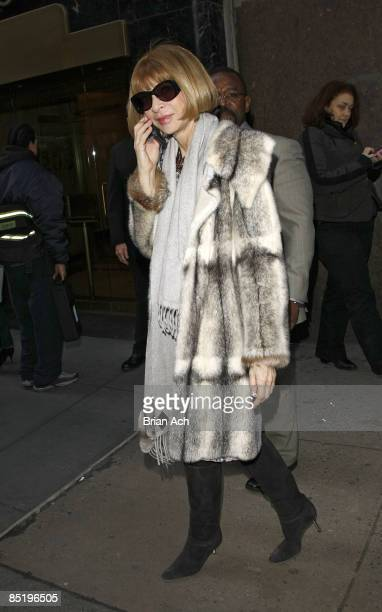 Anna Wintour seen around Bryant Park during Mercedes-Benz Fashion Week Fall 2009 on February 19, 2009 in New York City.