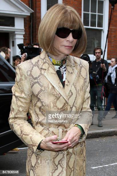 Anna Wintour seen at JW Anderson at Yeomanry House during London Fashion Week September 2017 on September 16 2017 in London England