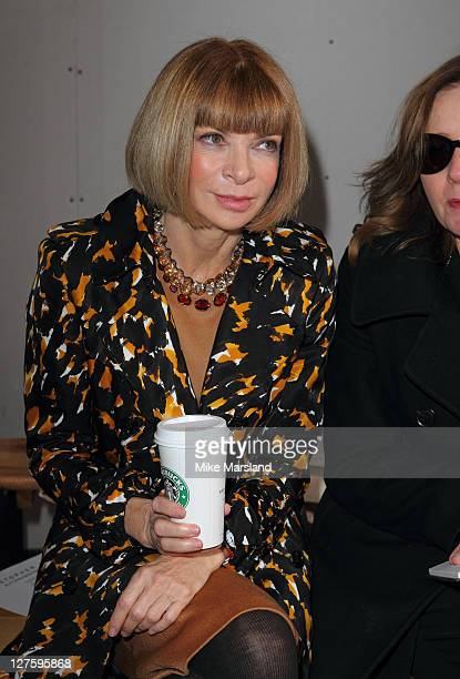 Anna Wintour seen in the front row at the Christopher Kaneshow at London Fashion Week Autumn/Winter 2011 on February 21 2011 in London England