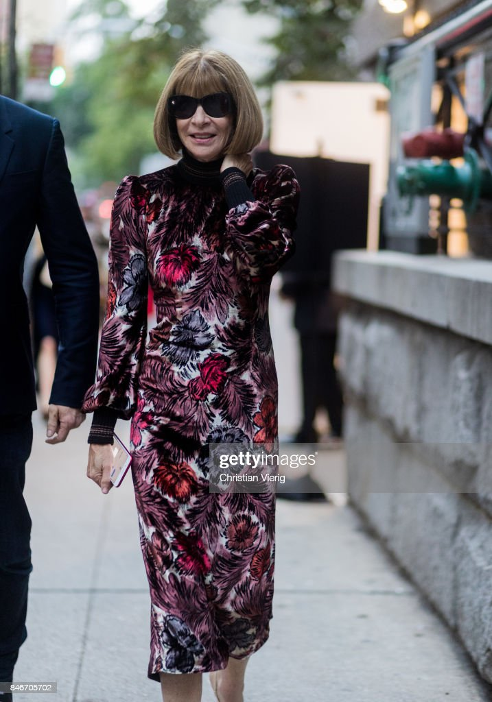 Anna Wintour seen in the streets of Manhattan outside Marc Jacobs during New York Fashion Week on September 13, 2017 in New York City.