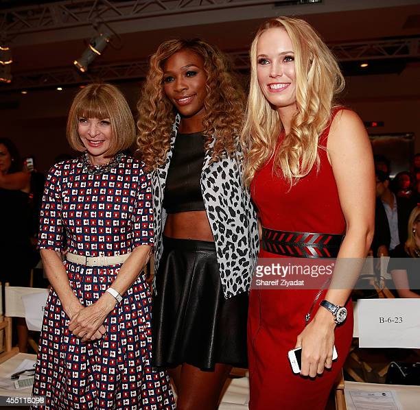 Anna Wintour Serena Williams and Caroline Wozniacki at Metropolitan West on September 9 2014 in New York City