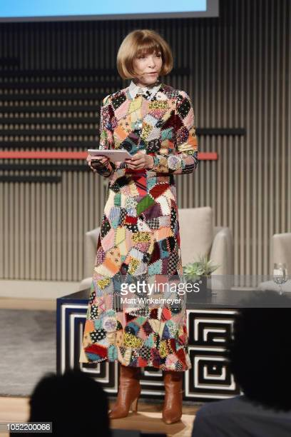 Anna Wintour speaks onstage at WIRED25 Summit WIRED Celebrates 25th Anniversary With Tech Icons Of The Past Future on October 15 2018 in San...
