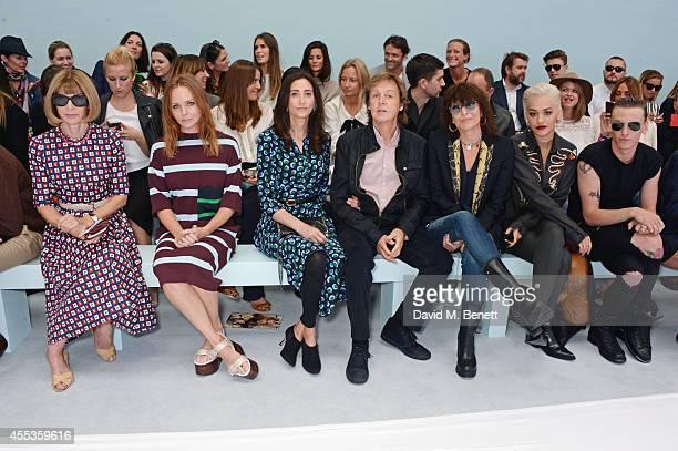 Anna Wintour Stella McCartney Nancy Shevell Sir Paul McCartney Chrissie Hynde Rita Ora and Jamie Campbell Bower attend the Hunter Original SS 2015...