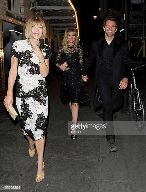 Anna Wintour Suki Waterhouse and Bradley Cooper head to J Sheeky restaurant for dinner on September 15 2014 in London England