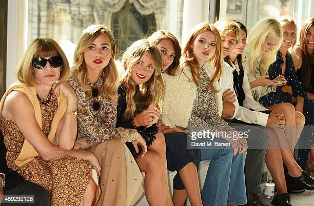 Anna Wintour Suki Waterhouse Cressida Bonas Alexa Chung Bella Thorne Brandon Green Natalie Massenet Poppy Delevingne Martha Ward and Elizabeth...