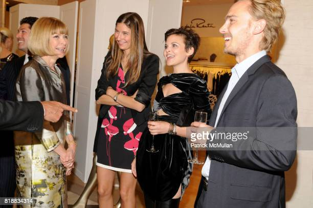 Anna Wintour Sylvana Soto Ward Ginnifer Goodwin and Joey Kern attend VIONNET SAKS FIFITH AVENUE VOGUE Cocktail Reception at Saks Fifth Avenue on...