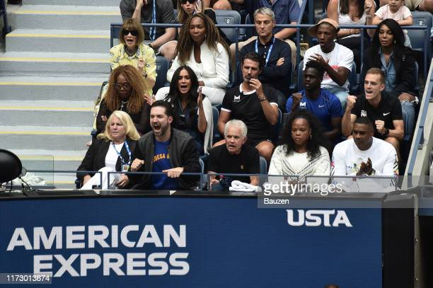 Anna Wintour Venus Williams Oracene Price Meghan Duchess of Sussex and Alexis Ohanian attend US Open Finals on September 07 2019 in Corona New York...