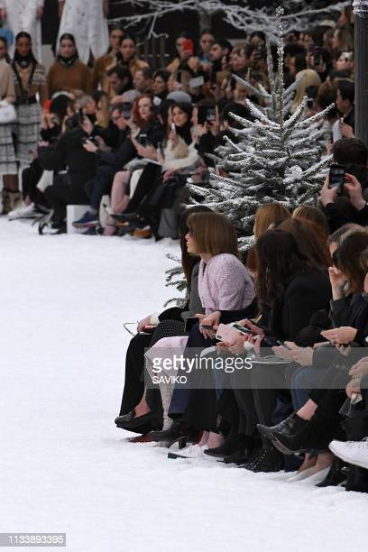 Anna Wintour walks the runway during the Chanel Ready to Wear fashion show as part of the Paris Fashion Week Womenswear Fall/Winter 2019/2020 on...