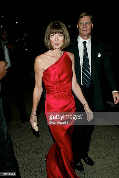 Anna Wintour with Shelby Bryan arriving at the New Yorkers for Children Fall Gala at the Regent Wall Street in New York City September 17 2002 Photo...