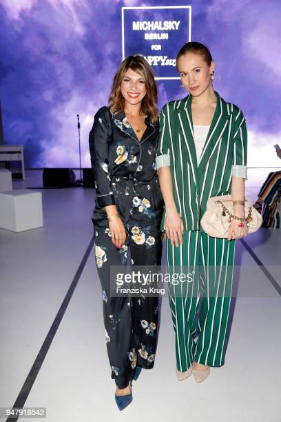 Anna Wolfers and Alina Levshin during the Happy Size X Michalsky launch event on April 17 2018 in Hamburg Germany