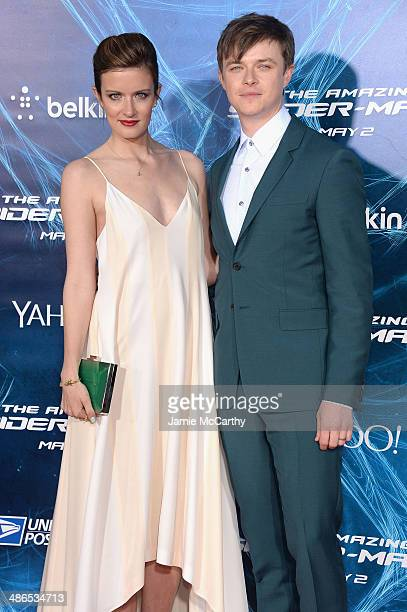 Anna Wood and Dane Dehaan attend 'The Amazing SpiderMan 2' premiere at the Ziegfeld Theater on April 24 2014 in New York City