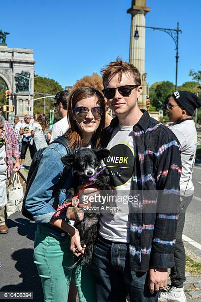 Anna Wood and Dane DeHaan attends the 2016 One BK Unite Walk at Prospect Park on September 25 2016 in New York City