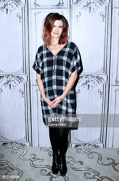 Anna Wood appears to promote Falling Water during the BUILD Series at AOL HQ on November 9 2016 in New York City