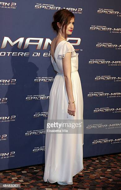 Anna Wood attends 'The Amazing Spider-Man 2: Rise Of Electro' Rome Premiere at The Space Moderno Cinema on April 14, 2014 in Rome, Italy.