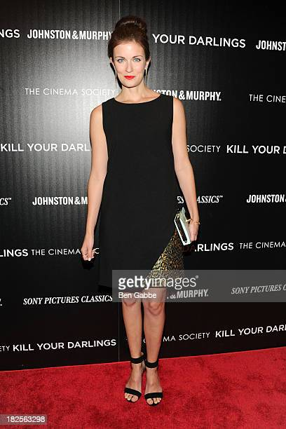 """Anna Wood attends The Cinema Society and Johnston & Murphy host a screening of Sony Pictures Classics' """"Kill Your Darlings"""" at the Paris Theatre on..."""