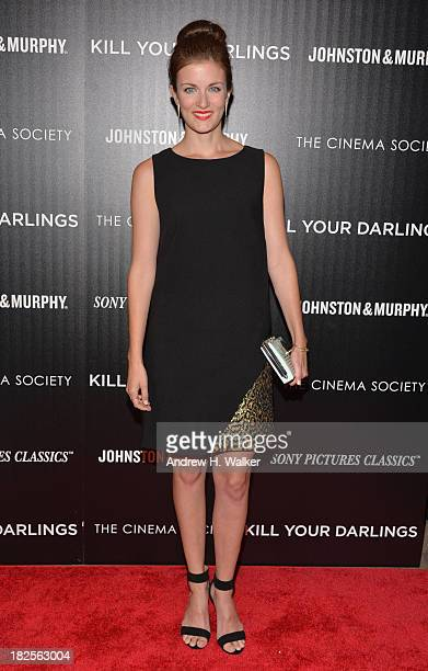 Anna Wood attends The Cinema Society and Johnston Murphy screening of Sony Pictures Classics' Kill Your Darlings at Paris Theater on September 30...