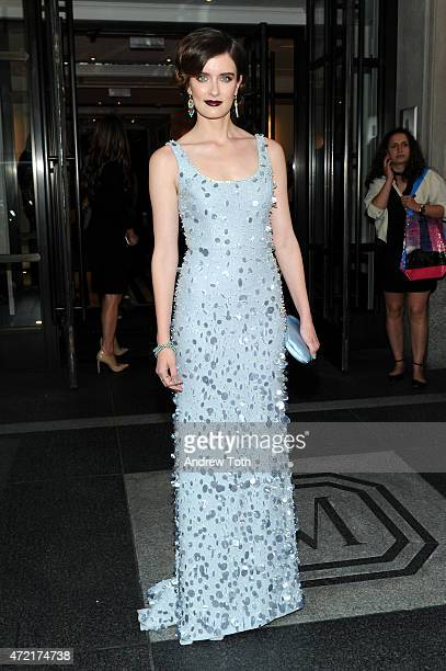 Anna Wood departs The Mark Hotel for the Met Gala at the Metropolitan Museum of Art on May 4 2015 in New York City