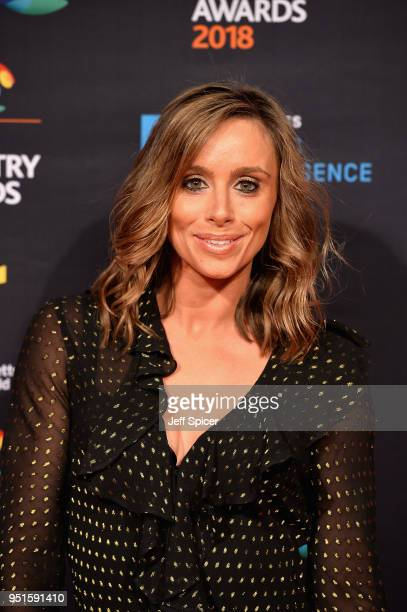 Anna Woolhouse arrives at the red carpet during the BT Sport Industry Awards 2018 at Battersea Evolution on April 26 2018 in London England The BT...