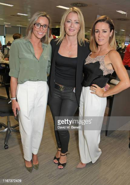 Anna Woolhouse Rachel Brookes and Natalie Pinkham all representing Hopes and Homes for Children attend BGC Charity Day at One Churchill Place on...