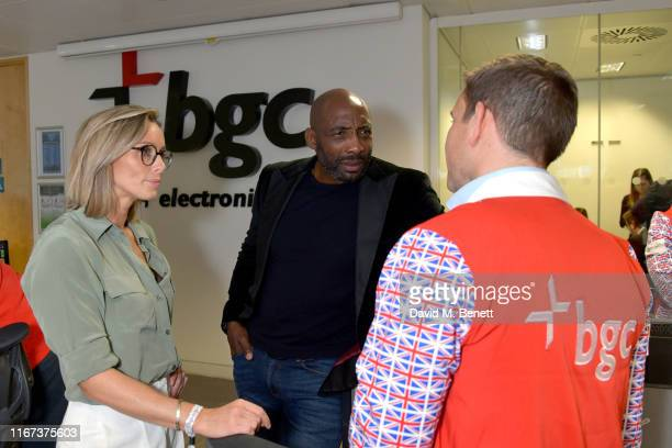 Anna Woolhouse representing Hope And Homes For Children and Johnny Nelson representing Hope And Homes For Children attend BGC Charity Day at One...