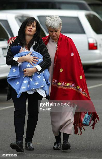 Anna Worledge and her mother Patsy enter the Coroner's Court for the hearing in the case of missing girl Eloise Worledge 7 July 2003 Eloise...