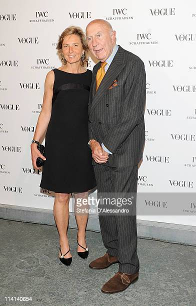 Anna Zegna and Beppe Modenese attend Vogue and IWC present 'Peter Lindbergh's Portofino' at 10 Corso Como on May 12 2011 in Milan Italy