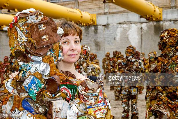 Anna Zlotovskaya wife of artist HA Schult during the 'Trash People goes Berlin' Exhibition Artist HA Schult presents 'Trash People goes Berlin' at...