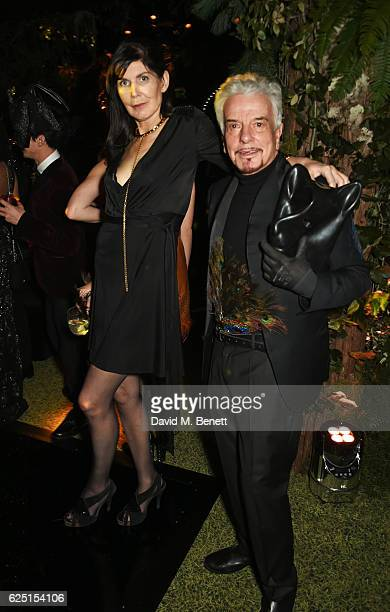 Annabel Brooks and Nicky Haslam attend The Animal Ball 2016 presented by Elephant Family at Victoria House on November 22 2016 in London England