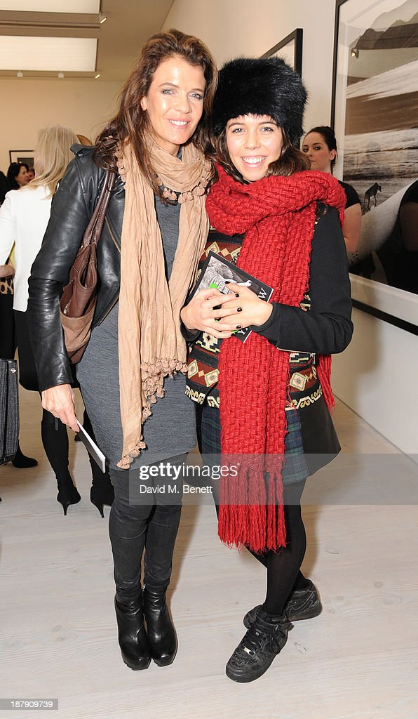 Annabel Croft and Amber Croft attend the private view of ENCOUNTER the stunning wildlife photography of David Yarrow at Saatchi Gallery on November 13, 2013 in London, England.