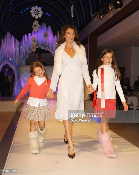 Annabel Croft and her daughters attend the annual fashion show in aid of children's charity SPARKS at The Hurlingham Club on October 20 2004 in...