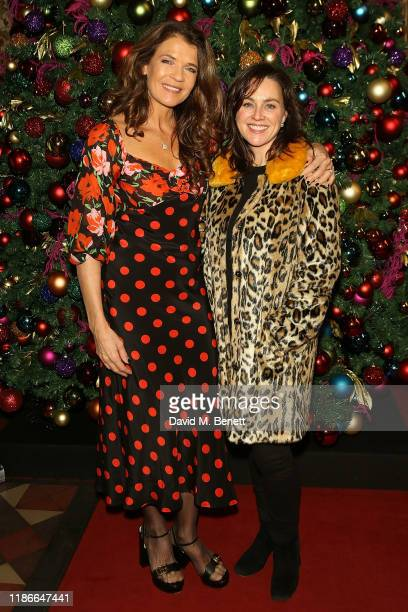 Annabel Croft and Jilly Halfpenny attend the Rainbow Trust Carol Concert at St Paul's Church on December 5, 2019 in London, England.