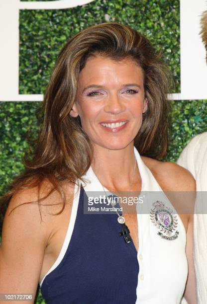Annabel Croft attends photocall to launch Polo Ralph Lauren's Legends Clinic on June 17 2010 in London England