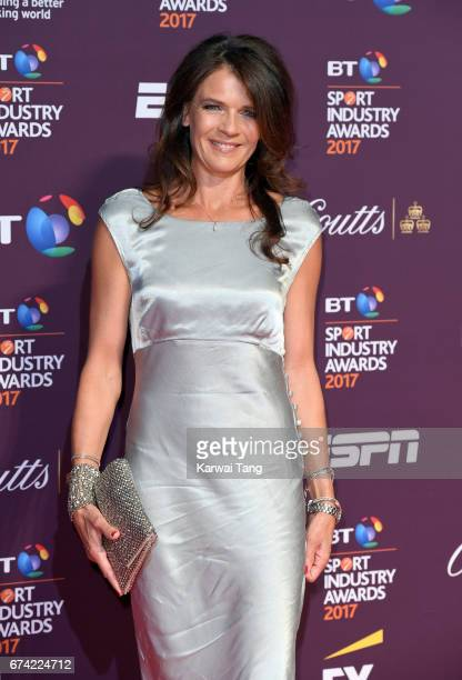 Annabel Croft attends the BT Sport Industry Awards at Battersea Evolution on April 27, 2017 in London, England.