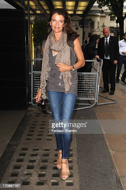 Annabel Croft attends the gala screening of 'Venus and Serena' at The Curzon Mayfair on June 19 2013 in London England