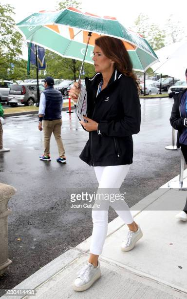 Annabel Croft attends the men's final on day 14 of the 2018 tennis US Open on Arthur Ashe stadium at the USTA Billie Jean King National Tennis Center...