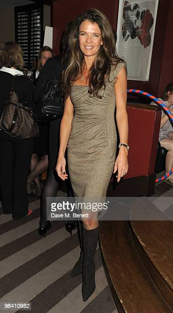 Annabel Croft attends the StreetSmart party at the Groucho Club on April 12 2010 in London England