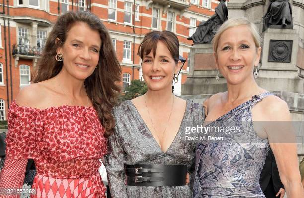 Annabel Croft, Dame Darcey Bussell and Tania Bryer attend the inaugural British Ballet Charity Gala presented by Dame Darcey Bussell at The Royal...