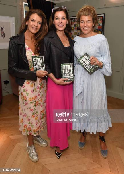 Annabel Croft Darcey Bussell and Amber Nuttall attends the launch of new book Global Planet Authority by Angus Forbes at The Groucho Club on...