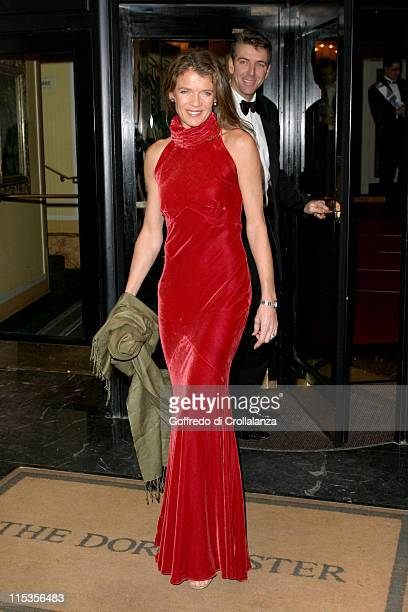 Annabel Croft during The Rainbow Ball Arrivals at Dorchester Hotel Park Lane in London Great Britain