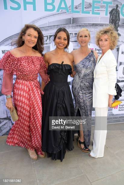 Annabel Croft, Emma Thynn Viscountess Weymouth, Tania Bryer and Jo Manoukian attend the inaugural British Ballet Charity Gala presented by Dame...