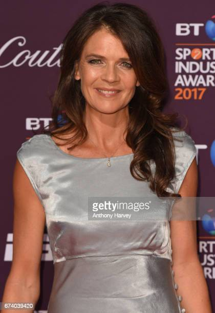 Annabel Croft poses on the red carpet during the BT Sport Industry Awards 2017 at Battersea Evolution on April 27 2017 in London England The BT Sport...