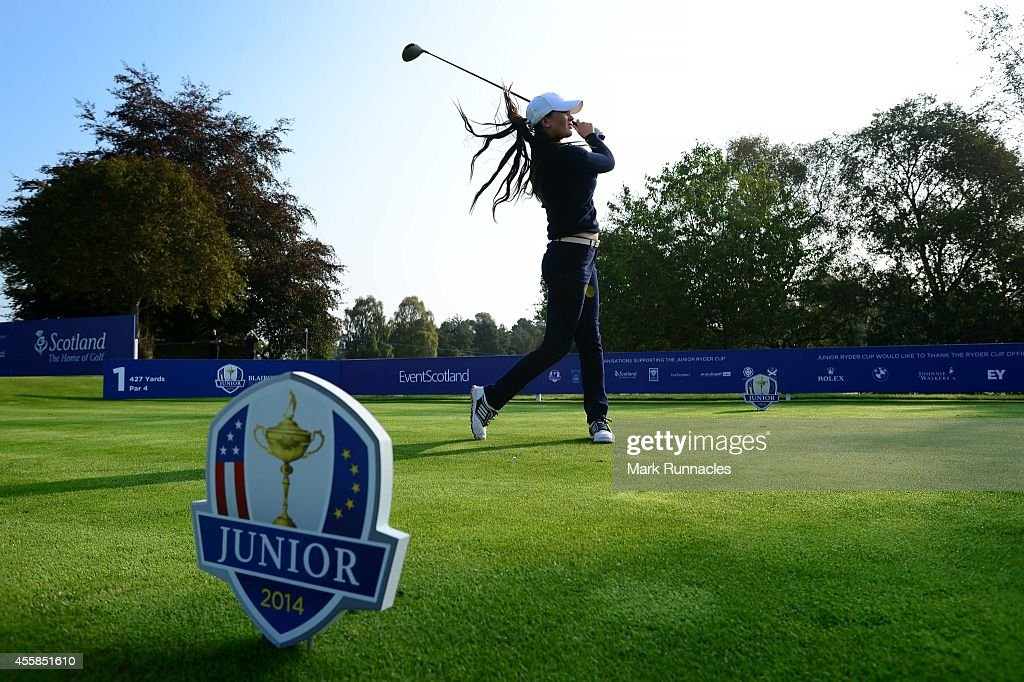 Annabel Dimmock of Team Europe in action during the second practice round of the 2014 Junior Ryder Cup - Previews on September 21, 2014 in Perth, Scotland.