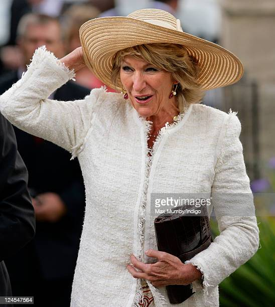 Annabel Elliot attends the wedding of Ben Elliot and MaryClare Winwood at the church of St Peter and St Paul Northleach on September 10 2011 in...