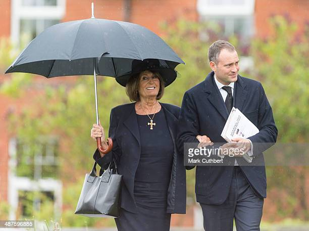 Annabel Goldsmith and Ben Goldsmith attend The Funeral of Mark Shand at Holy Trinity Church in Stourpaine on May 1 2014 near Blandford Forum in...