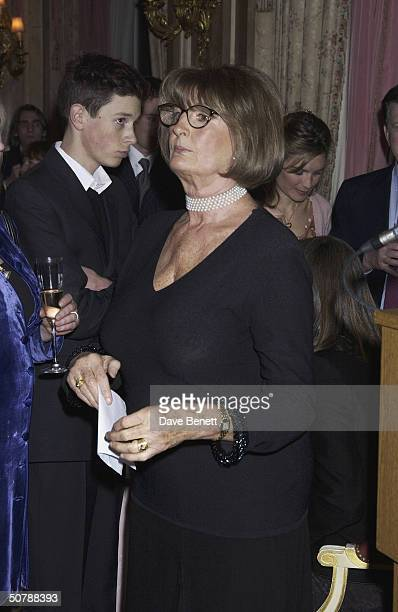 Annabel Goldsmith at the book launch for her memoirs at the Ritz Hotel on 11th March 2004 in London