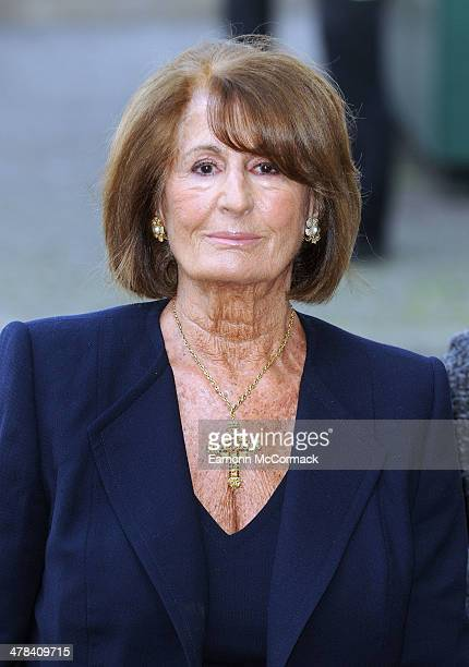 Annabel Goldsmith attends a memorial service for Sir David Frost at Westminster Abbey on March 13 2014 in London England