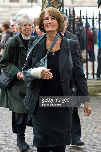 Annabel Goldsmith attends a Memorial Service for Sir Richard Attenborough at Westminster Abbey on March 17 2015 in London England