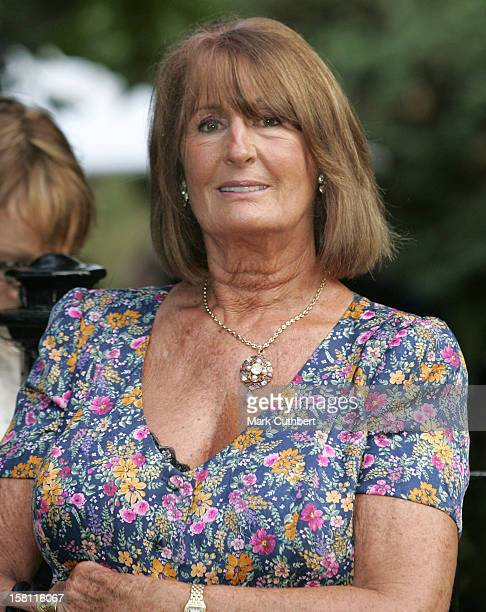 Annabel Goldsmith Attends A Summer Party Hosted By David Frost At His Home In London