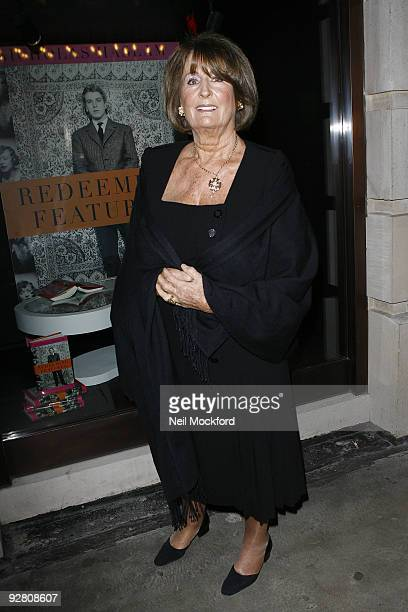 Annabel Goldsmith attends the book launch party for Nicky Haslam's autobiography 'Redeeming Features' on November 5 2009 in London England