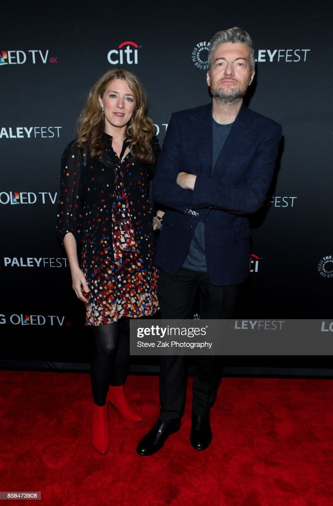 Annabel Jones and Charlie Brooker attend PaleyFest NY 2017 'Black Mirror' at The Paley Center for Media on October 6, 2017 in New York City.